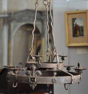 Italian antique iron chandelier