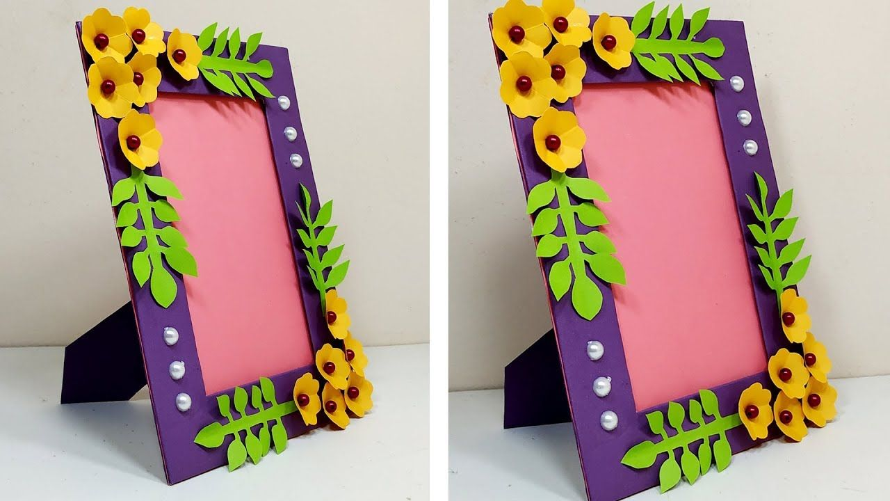 Photo Frame Diy Ideas Handmade Picture Frame Making At Home