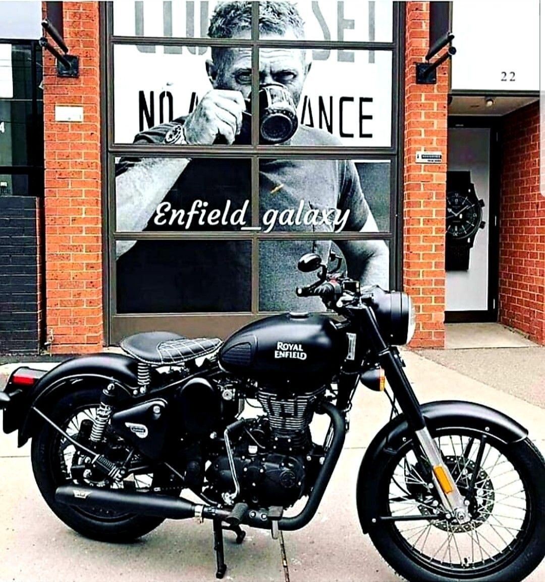 Photo of Royal Enfield classic 500cc stealth black