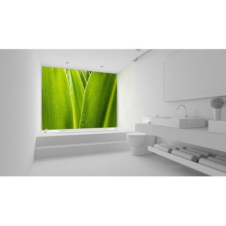 Tjilly Blatt-Optik Aluminium Wandpaneel 125 x 250cm Grünes - fixation porte de placard