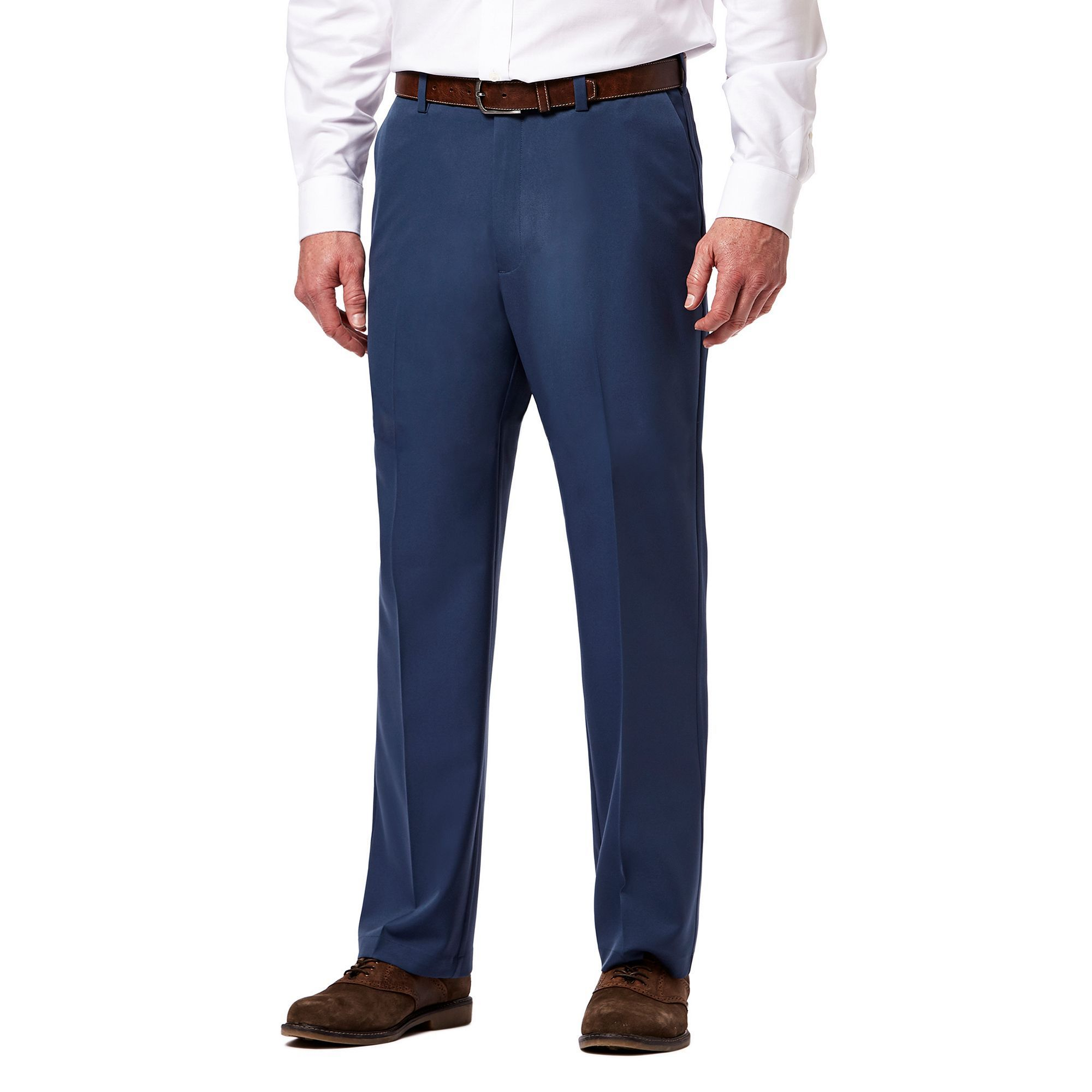 fit classic p flat comforter pro comfort mens navy men haggar s front waist of expandable picture cool pant jeans