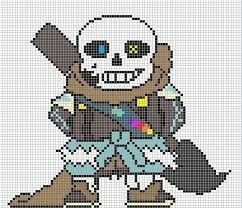 Ink Sans Sprite Undertale Pixel Art Minecraft Pixel Art Pixel Art