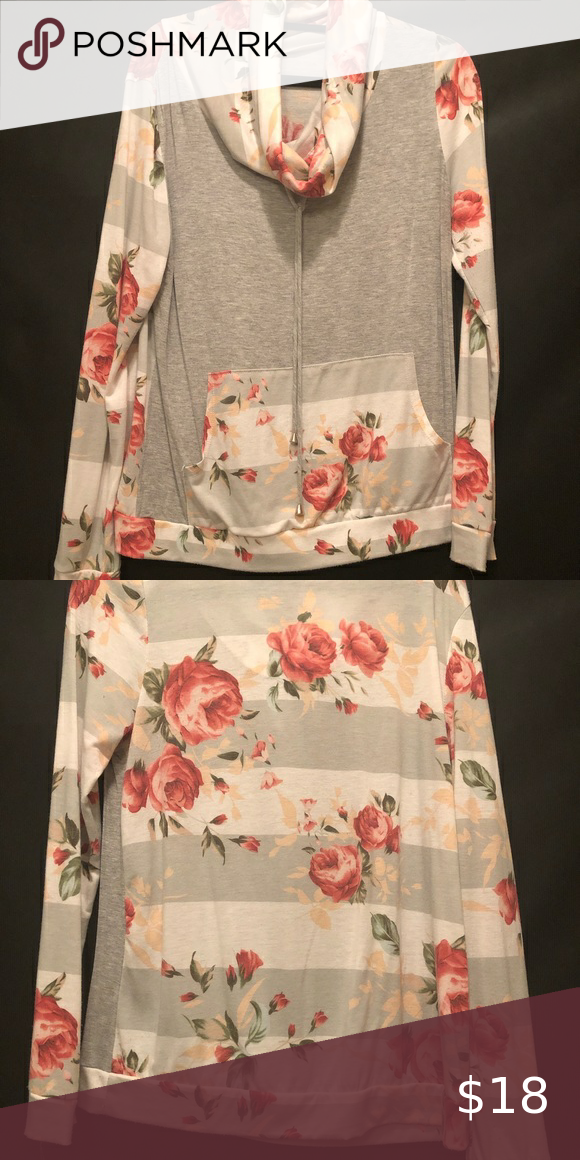 Floral & Gray Pullover