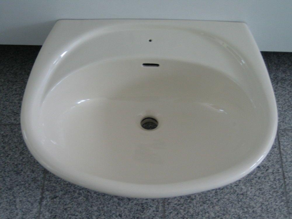 Novo Boch Waschtisch Waschbecken Becken Elfenbein 60 X 52 Cm