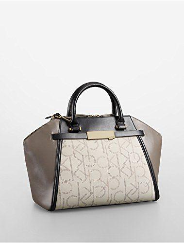 Calvin Klein Addie Dome Satchel Handbag (Granite) Calvin Klein ...