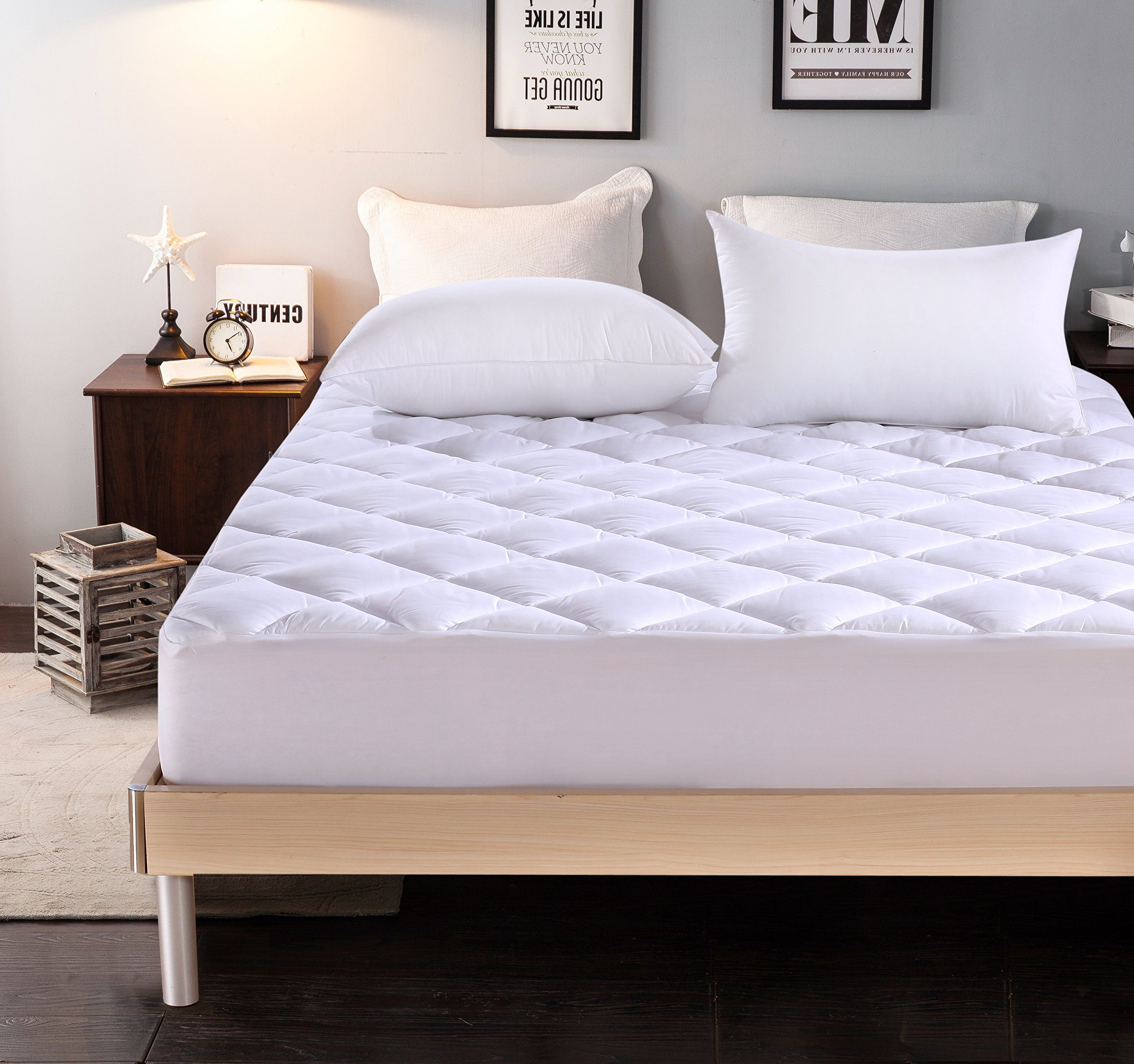 everest extra thick mattress pad queen size 60 x80 18