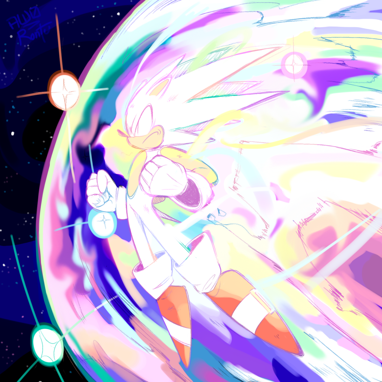 Hyper Sonic Sonic The Hedgehog Shadow Sonic Y Sonic El Erizo