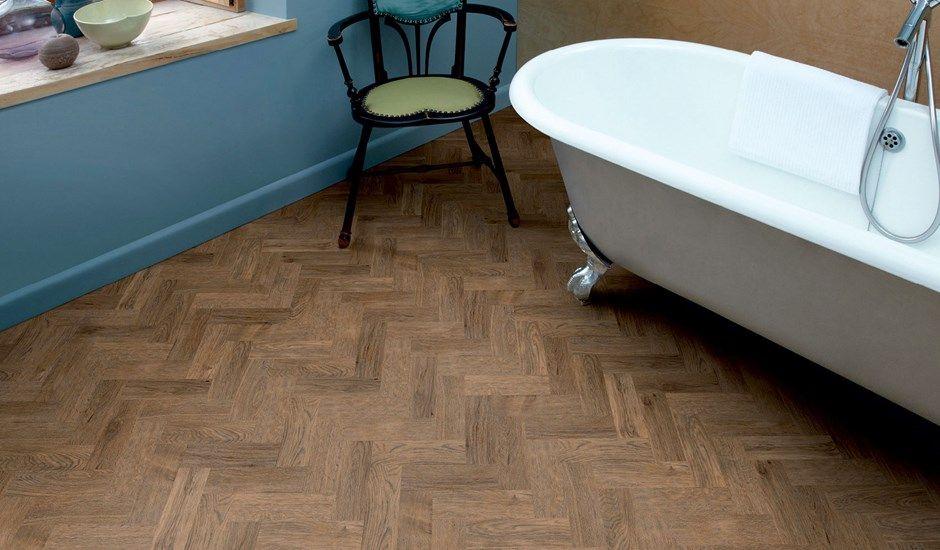Amtico flooring laid parquet style. Brushed Oak Wood ...