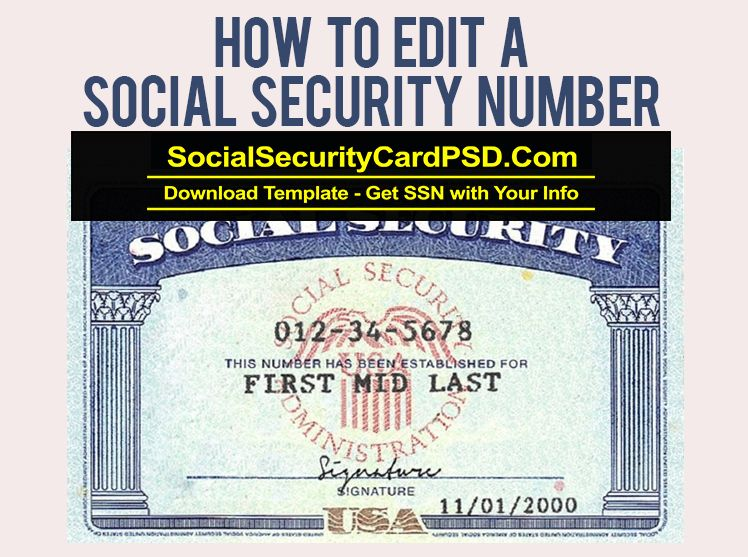 How to edit social security number with images social