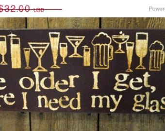 Bar Wall Decor fall-into-autumn sale the older i get - expressive art on canvas