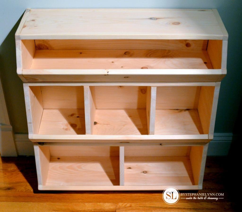 How To Build A Wooden Storage Bin Organizer