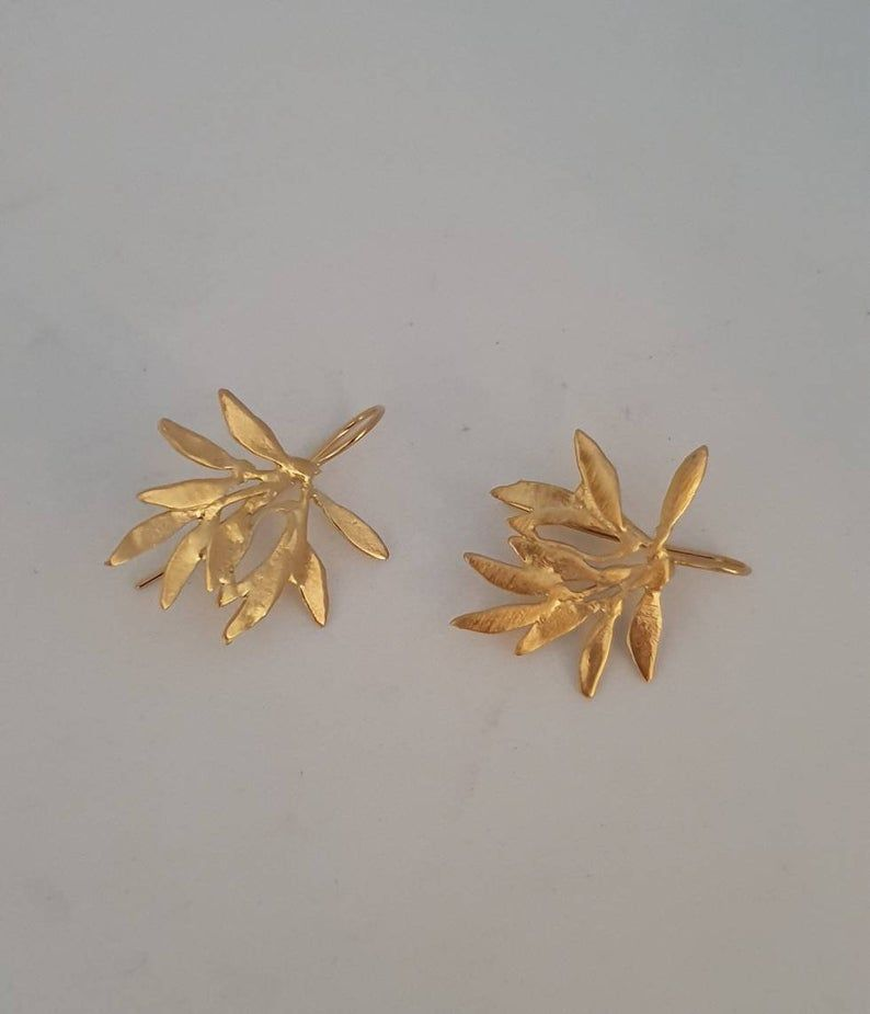 Bridesmaid Gold Plated drop earrings