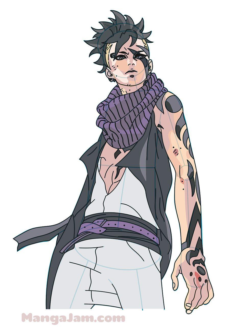 Let's learn how to draw Kawaki from Naruto today! Kawaki