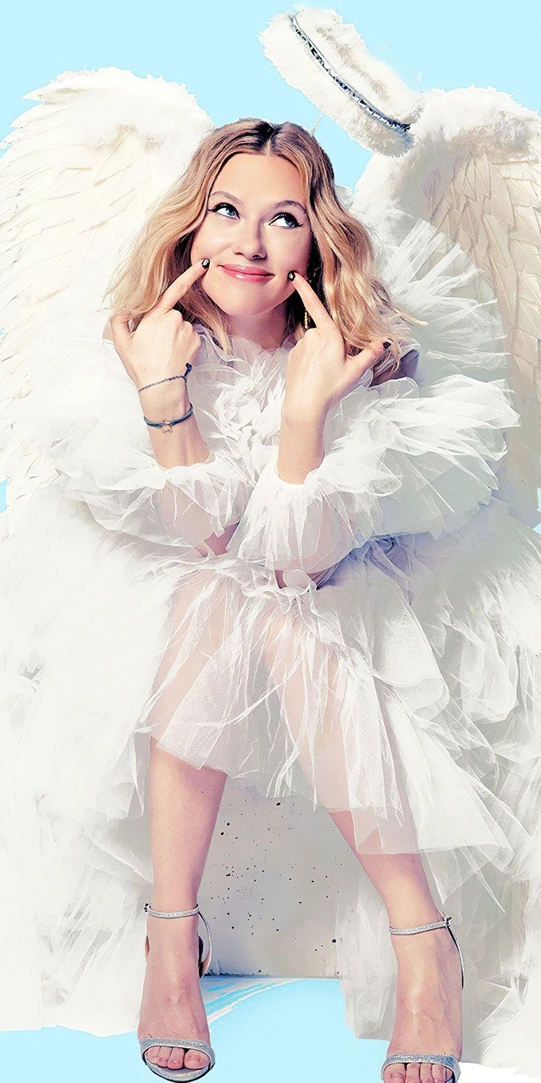1080x2160 Angel Costume 2020 Scarlett Johansson Wallpaper In