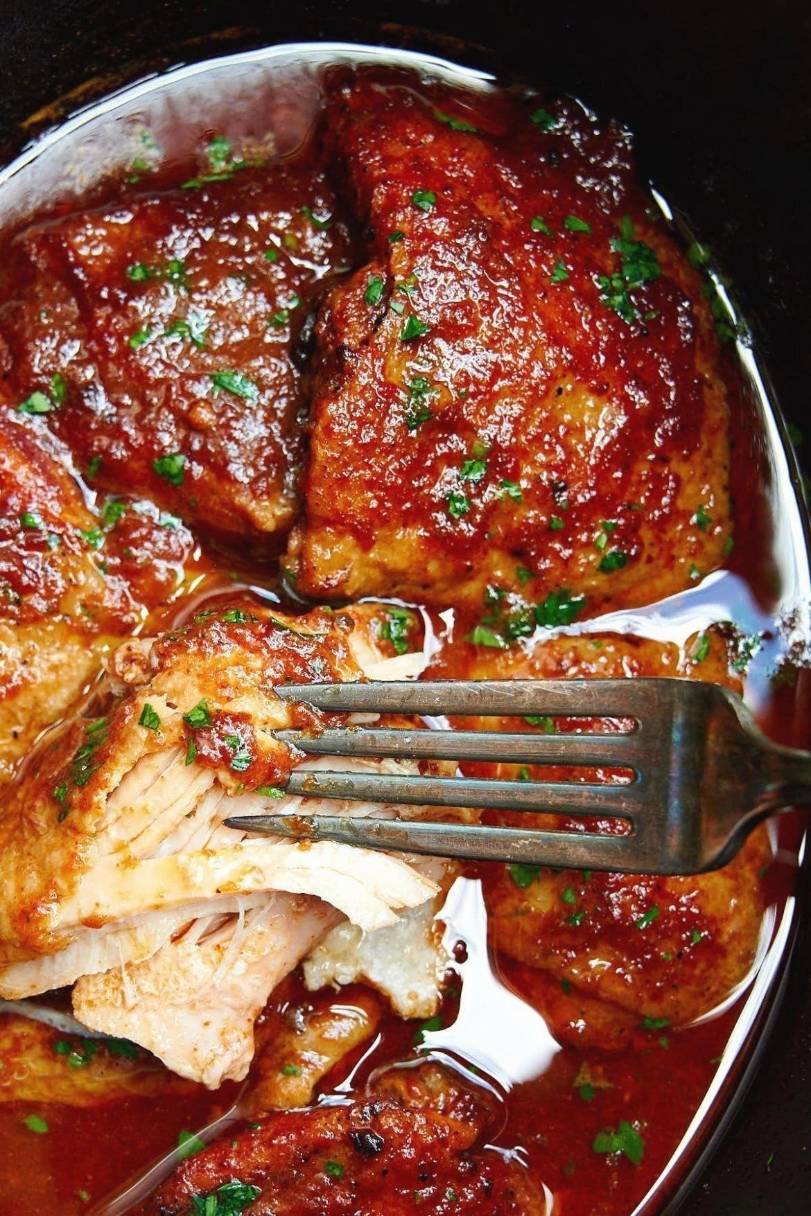 Slow Cooker Bbq Chicken Oked Low And Slow Best Crock Pot Bbq Chicken In 2020 Slow Cooker Bbq Chicken Slow Cooker Bbq Bbq Chicken Crockpot