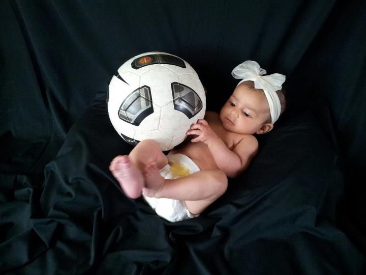 Soccer Baby My Baby Is Gonna Be Soccer Girl Like Her Mom Soccer Baby Newborn Photography Boy Cute Baby Photos