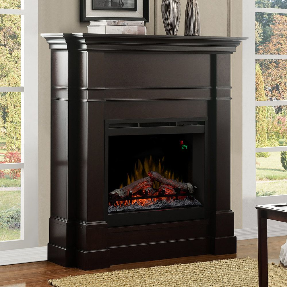 Colton Espresso Electric Fireplace Mantel Package Dfp26l 5337es