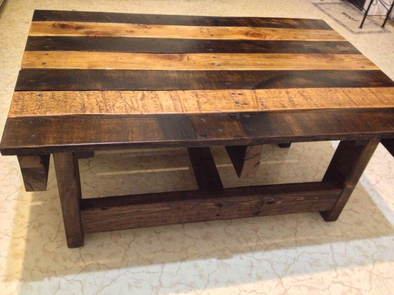 Handmade Reclaimed Rustic Pallet Wood Coffee Table 275 00 Via Etsy Wooden Pallet Table Wood Coffee Table Rustic Pallet Wood Coffee Table [ 1125 x 1500 Pixel ]