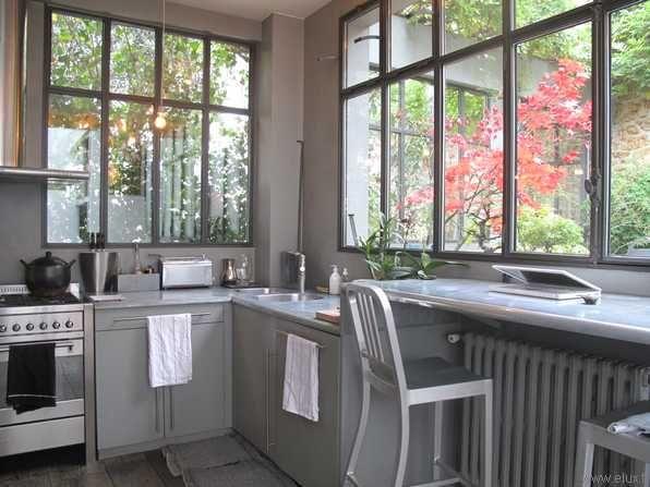La cuisine dans la verrière Verrières Pinterest Smallest house - cuisine dans veranda photo