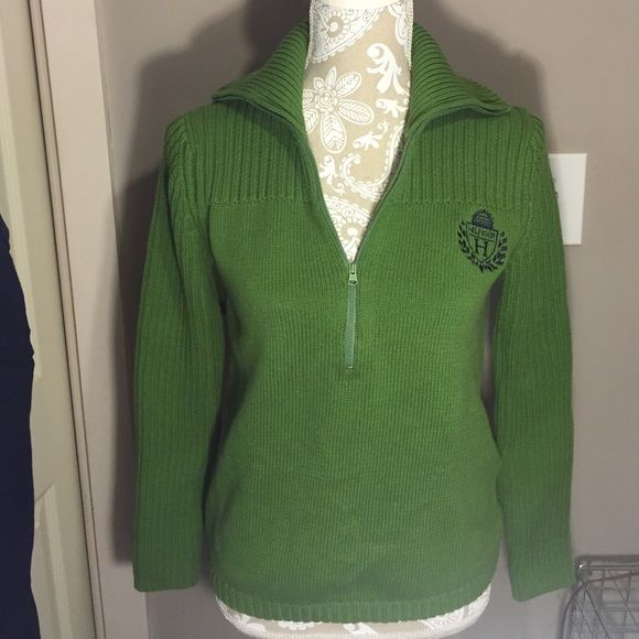 Tommy Hilfiger Half Zip Sweater Tommy Hilfiger Half Zip Sweater, size Large fits like a Medium Tommy Hilfiger Sweaters