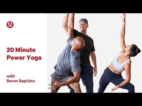 091eb195a6f (4) 20 Minute Power Yoga Class with Baron Baptiste | lululemon - YouTube