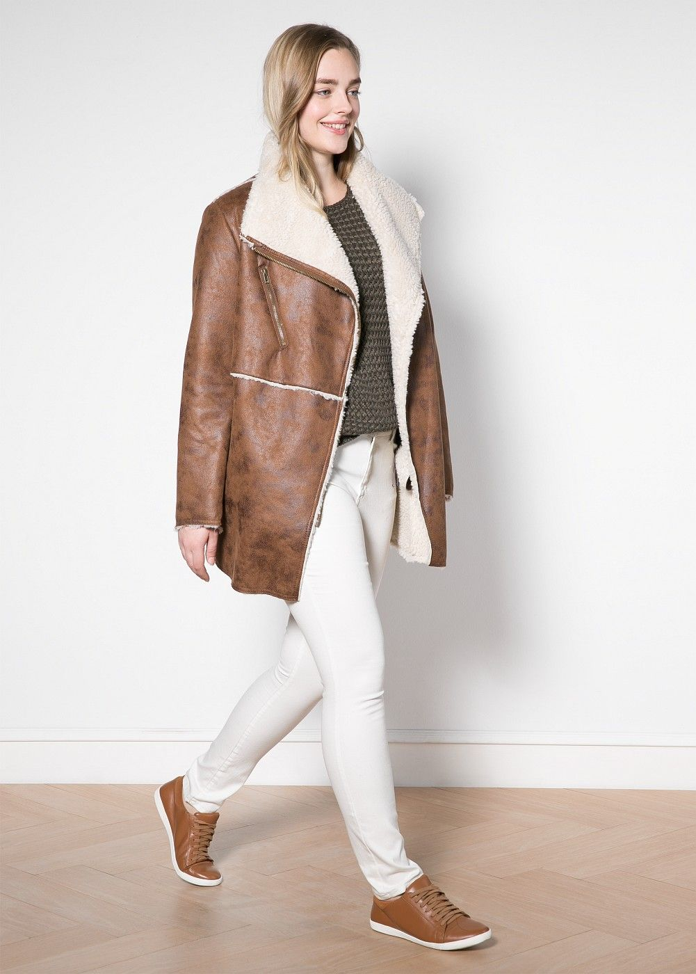 Collection Women S Faux Shearling Coat Pictures - Reikian