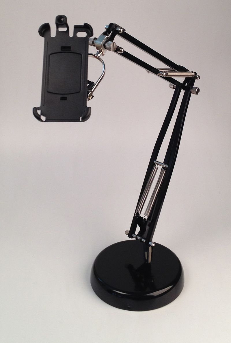 Turn A Broken Desk Lamp Into Camera Stand This One Is Made For An Iphone Using Phone Holder Bike