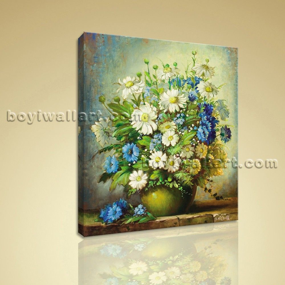 Modern Abstract Floral Painting Bouquet Flower HD Print On Canvas ...