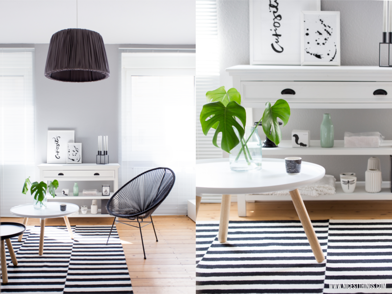 Nordic Living Room Black White Stripes / Tine K Home, Normann Copenhagen,  By Lassen