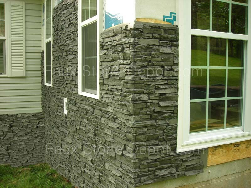 A Great Looking Noir Siding Panel From Antico Elements On Sale Faux Stone Panels Stone Panels Stone Siding Exterior
