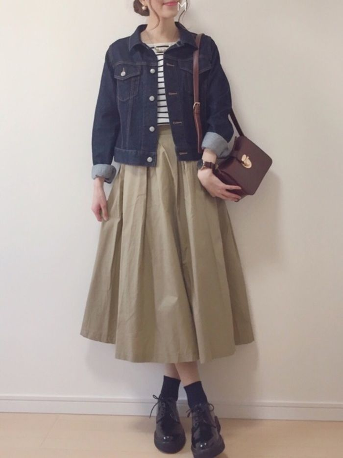 Doux et féminin ◎ Jupes longues et tenues qui couvrent également votre corps  Kinarino   – style
