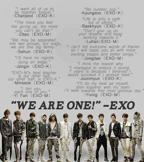 it s their st anniversary yesterday ♥ we are one exo promise