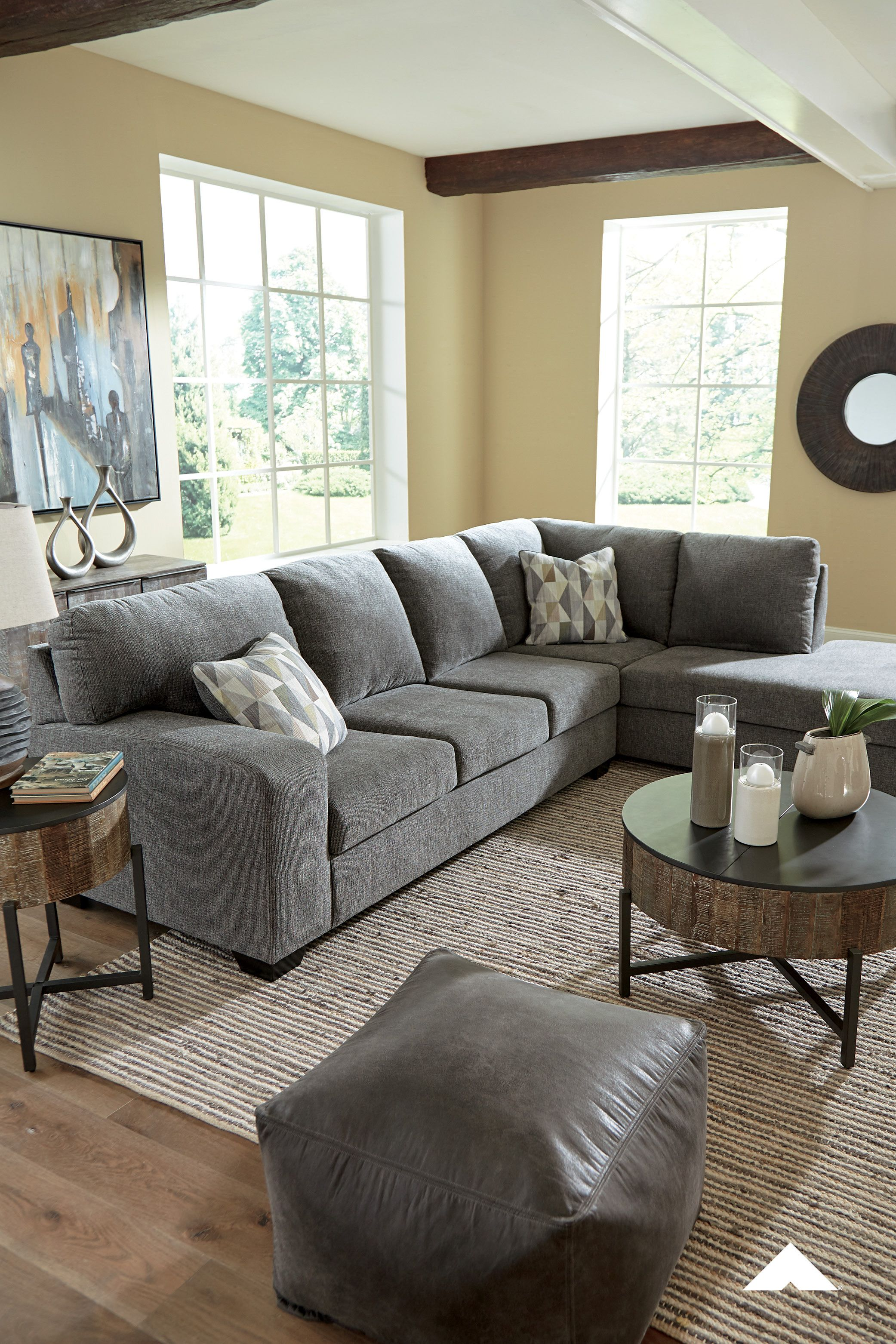 Dalhart Charcoal Sectional By Ashley Furniture Ashleyfurniture In