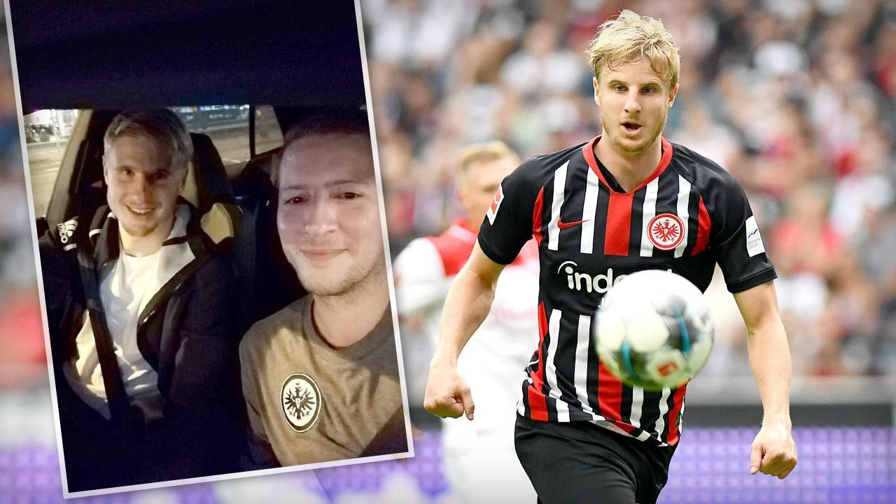 Martin Hinteregger Eintracht Frankfurt Star Fahrt Fan Zum Bahnhof