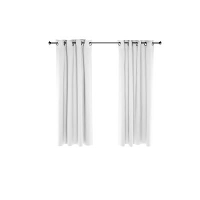 Furinno Collins Polyester Blackout Curtain In White 52 In X 63