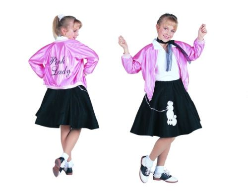 child pink ladies lady girl jacket 50s 50s satin grease costumes sock hop 91151 ebay - Greece Halloween Costumes