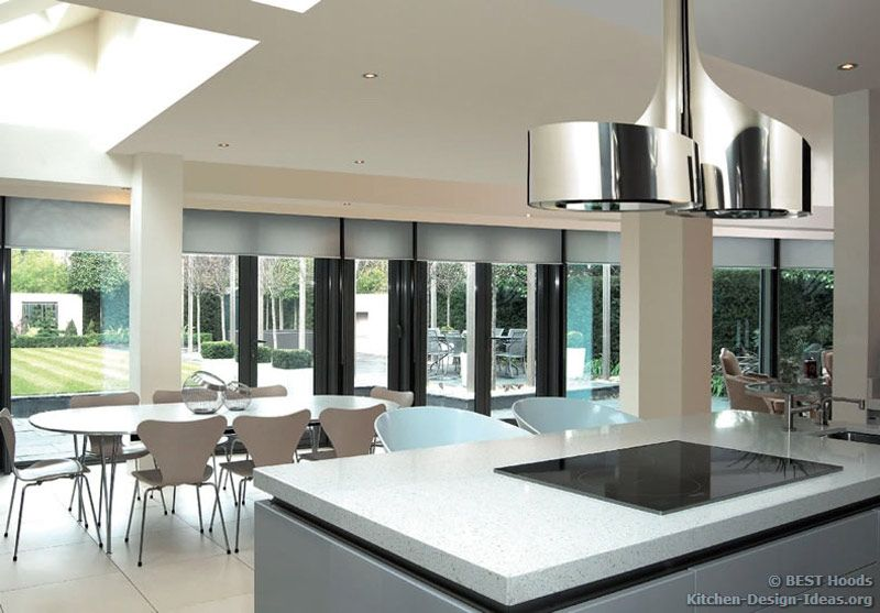 Kitchen Island Extractor double vertigo island hood (besthoods.co.uk, kitchen-design-ideas