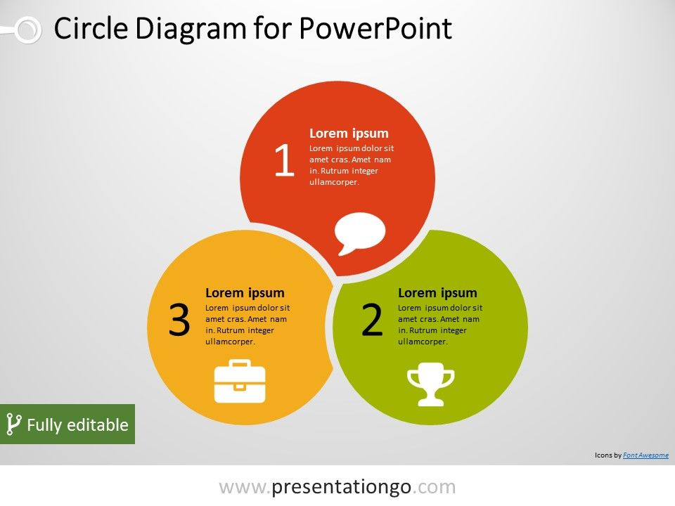3 Circle Powerpoint Diagram Presentationgo Powerpoint