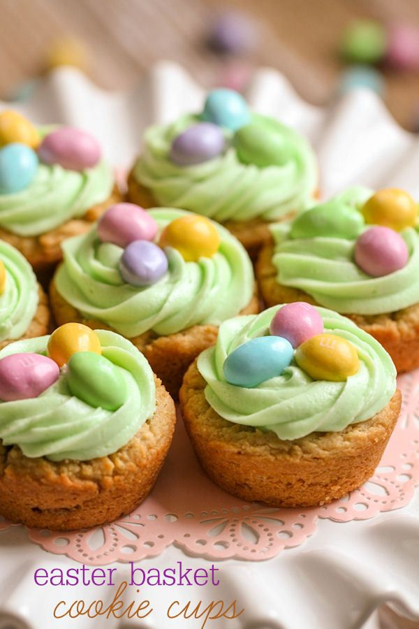 Recipes for easter cookie cups easter baskets and easter easter basket cookie cups dessert fooddessert recipesrecipes negle Choice Image