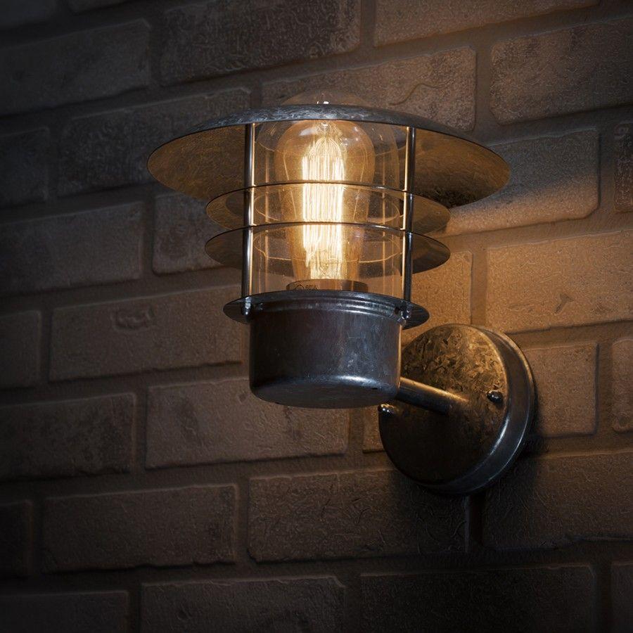 Cznsst fisherman style wall light on brick wall lifestyle