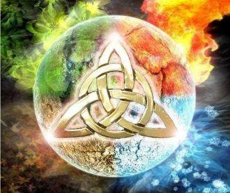 Die Elemente Feuer, Erde, Luft, Wasser zum Meditieren und