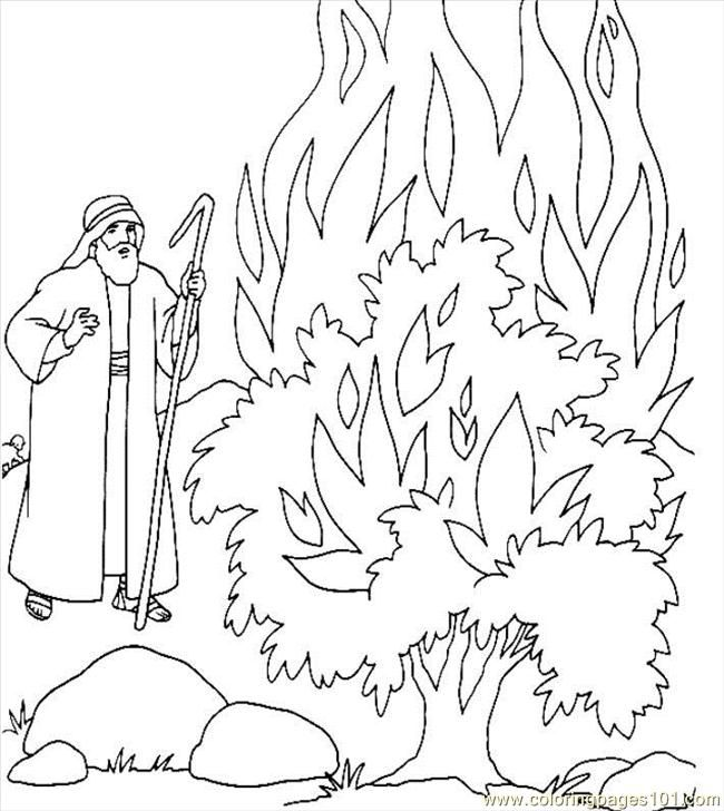 Moses and the burning bush | Oude Testament | Pinterest ...
