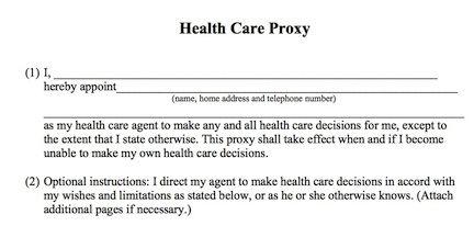 Health Care Proxy  LpcW