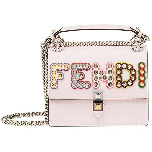 Fendi Pink Multi Embellished Logo Kan I Bag ( 2