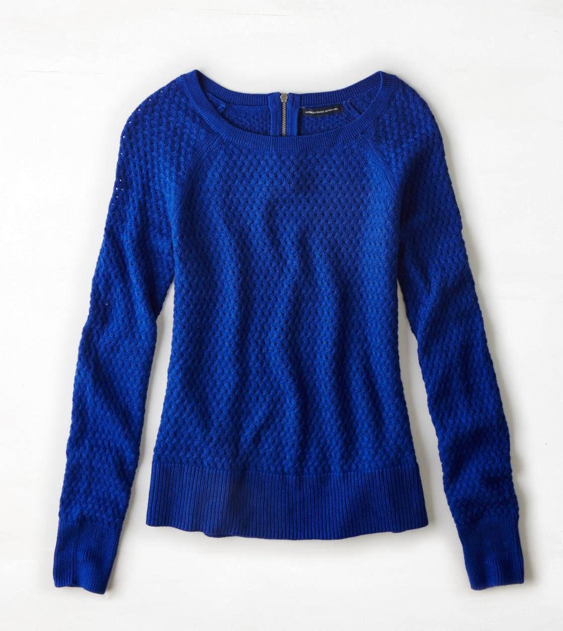 To replace my old bright blue sweater AEO Zip Back Crew Sweater ...