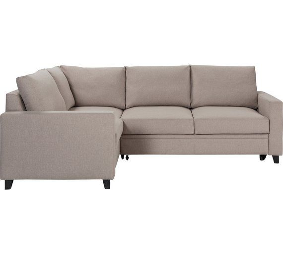 Buy Argos Home Seattle Left Corner Fabric Sofa Bed Natural Sofa Beds Fabric Sofa Sofa Bed Corner Sofa
