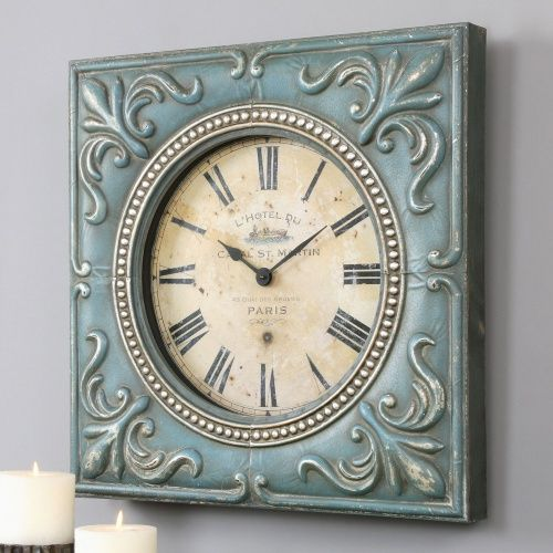 Uttermost Canal St Martin Square Wall Clock 24 In Wide Www Hayneedle Com Nautical Country