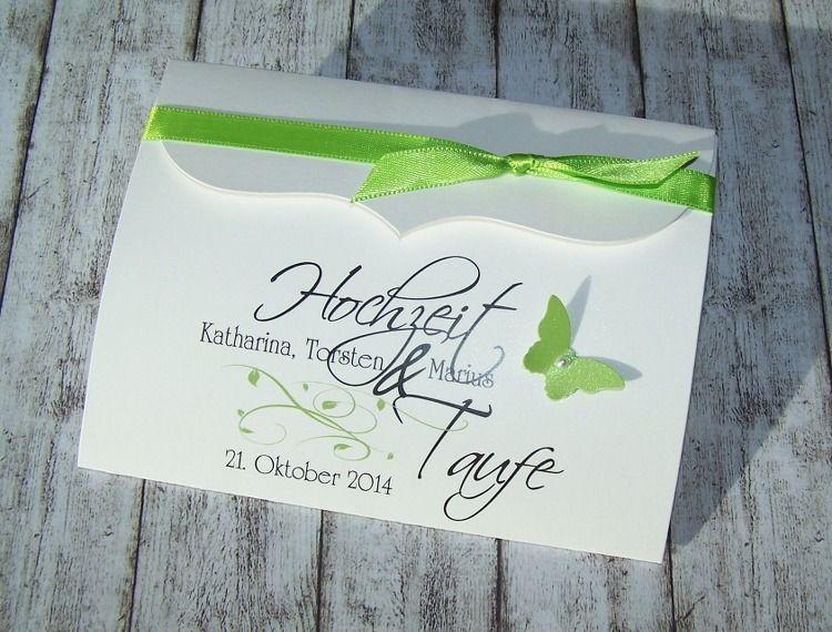 Einladung HOCHZEIT/TAUFE Bogenkarte Von Kartenmanufaktur Arndt