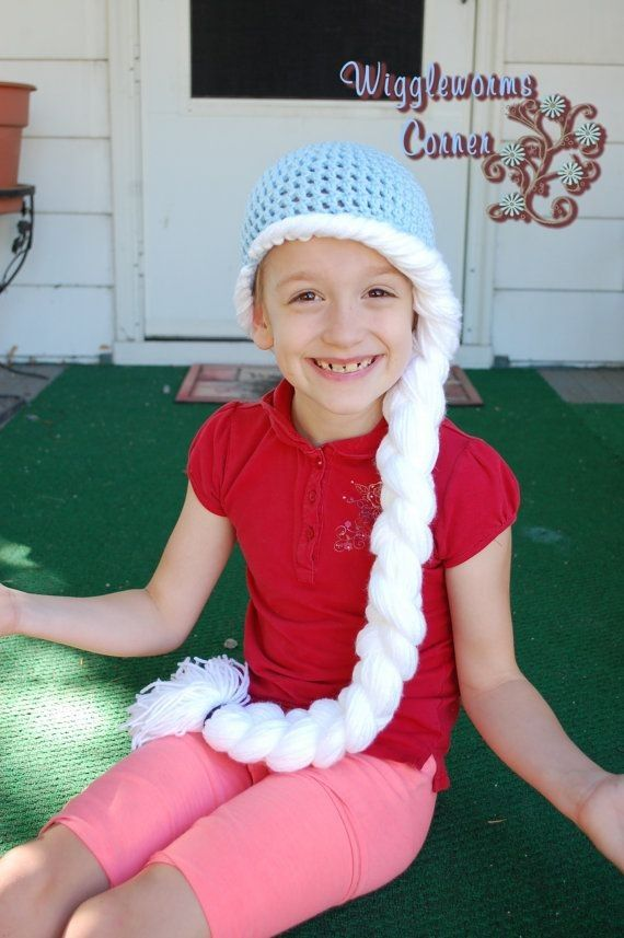Free Pattern Elsa Inspired Frozen Crochet Hat With Braid Beanie