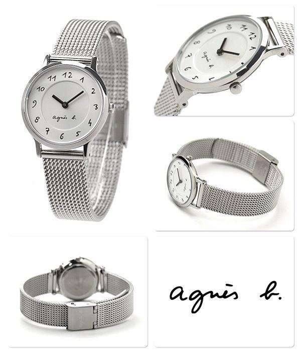 quality design d03bf b769a アニエスベー腕時計レディース手書きアラビアシルバーメッシュ ...